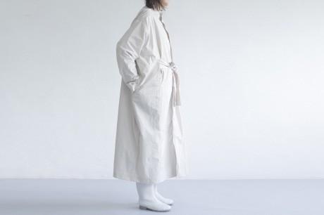 Beige Long Box Coat