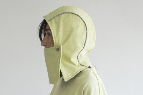 Light Green Stocking Hat With a Mask
