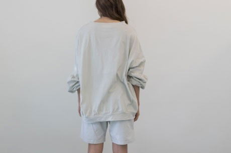 Light Grey Top With Balloon Sleeves