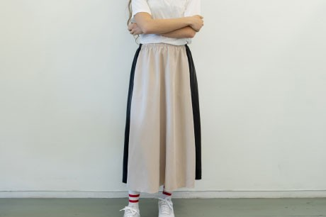 Collage Nude Skirt