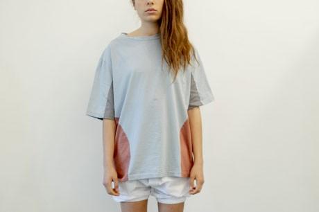 Light Blue Collage T Shirt