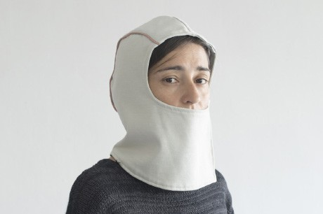 Light Grey Stocking Hat With a Mask